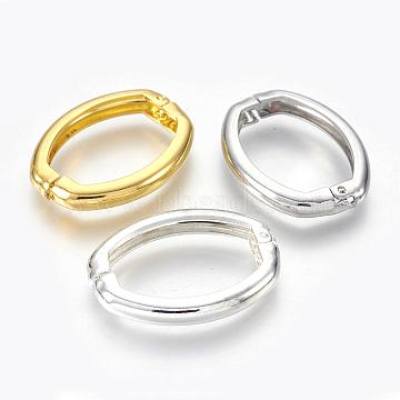 Brass Shortener Clasps, Twister Clasps, Oval, Mixed Color, 26.5x20x4mm(X-KK-L165-04)
