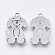 201 Stainless Steel Pendants(STAS-S110-006P)-1