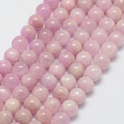 brins de perles naturelles de kunzite / spodumène, arrondir, 6 mm, trou: 1 mm; environ 60 perle / brin, 15.7(X-G-D856-03-6mm)