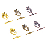 Mixed Color Flower Alloy Toggle Clasps(TIBE-PH0004-95-NR)