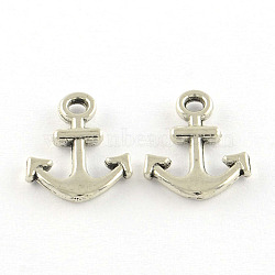 24mm Tibetan Silver Ships Anchor Charm Jewellery Craft Zinc Alloy H176 10 Pcs