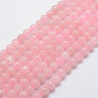 Natural Rose Quartz Bead Strands, Round, 6mm, Hole: 1mm, about 31pcs/strand, 7.4 inches(19cm)