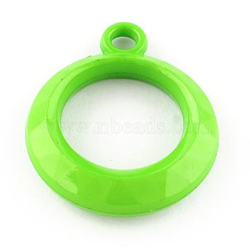31mm LimeGreen Ring Acrylic Pendants