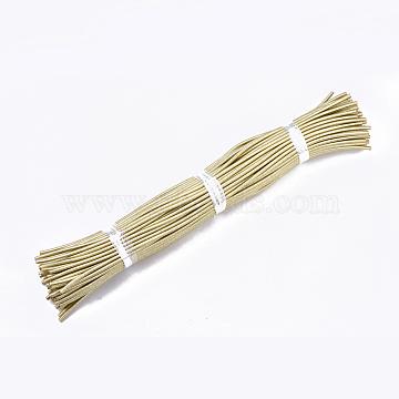 Round Purl Nylon Thread Cord, with PVC Tube inside, Metallic Cord, Gold, 455~465x5mm(X-RCOR-R002-140)