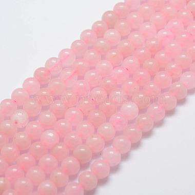 6mm Round Rose Quartz Beads