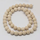Natural Fossil Beads Strands(G-D694-6mm)-1