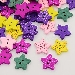 30 x 2-Hole Polka Dot Heart Buttons Various Colours Available 15mm