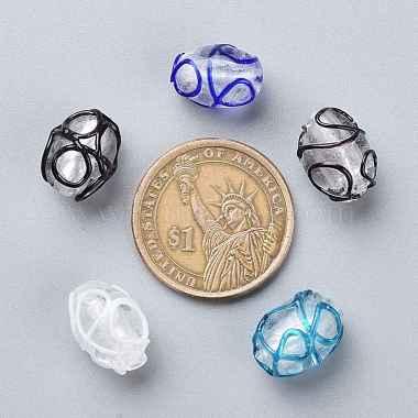 Handmade Lampwork Beads(LAMP-R112-M)-3
