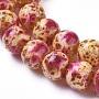 9mm Rouge Violet Moyen Rond Lampwork Perles(LAMP-D179-01D-8MM)
