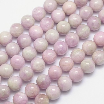 Natural Kunzite Round Beads Strands, Spodumene Beads, 12mm, Hole: 1mm; about 35pcs/strand, 15.5inches(G-I164-12mm)
