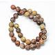 Brins de perles de jaspe en peau de léopard naturel(X-G-R345-8mm-30)-2