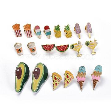 Mixed Color Alloy Safety Brooch