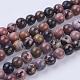 Natural Rhodonite Beads Strands(G-P318-04-8mm)-1