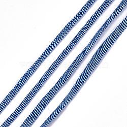 Cordons en polyester imprimés, marineblue, 20~25 mm; 28.5~30 m / rouleau(OCOR-S122-01E)