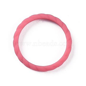 Silicone Finger Rings, Twist, Crimson, Inner Diameter: 18mm(RJEW-Z002-01A)