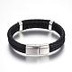Leather Braided Cord Bracelets(BJEW-E352-06P)-3