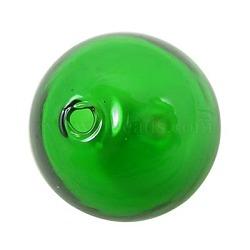 billes de globe en verre soufflé à la main, arrondir, limegreen, sur 28 mm de diamètre, trou: 2 mm(X-DH019J-2)