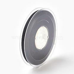 """Rayonne et ruban de coton, noir, 3/8"""" (9 mm); environ 50yards / rouleau (45.72m / rouleau)(SRIB-F007-030-9mm)"""