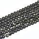 Natural Golden Sheen Obsidian Beads Strands(G-D0003-A34)-1