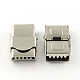 Smooth Surface 201 Stainless Steel Watch Band Clasps(X-STAS-R063-79)-1