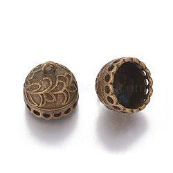 bails pendentif en alliage de style tibet, pompon bails, sans plomb et sans nickel, bronze antique, 20.5x20.5 mm, trou: 3 mm; diamètre intérieur: 17 mm.(X-TIBE-S298-189AB-FF)