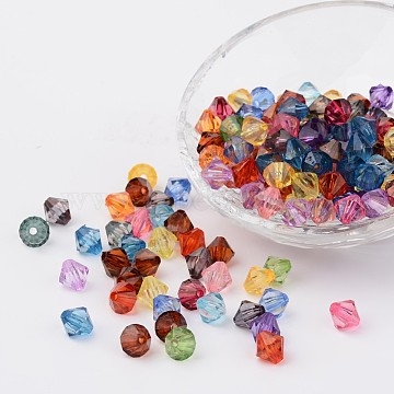 18mm Mixed Color Bicone Acrylic Beads