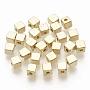 CCB Plastic Beads, Cube, Golden, 4x4x4mm, Hole: 1.4mm