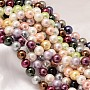 16mm Mixed Color Round Shell Pearl Beads(BSHE-L011-16mm-L)