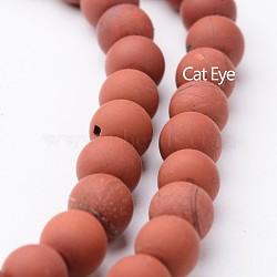 """Chapelets de perles rondes en jaspe rouge mat naturel, 6mm, trou: 1mm; environ 63~65 pcs/chapelet, 15""""(G-J346-22-6mm)"""