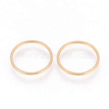 304 Stainless Steel Linking Ring, Ring, Golden, 12x0.8mm(STAS-S079-14B)
