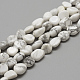 Natural Howlite Beads Strands(G-R445-8x10-26)-1