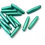 28mm Sarcelle Riz Acrylique Perles(MACR-S797-03)