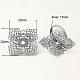 латунные филигранные кольца баз(X-KK-I019-S)-1