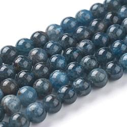 Chapelets de perles en apatite naturelle, rond, 6mm, trou: 1mm; environ 60~68 pcs/chapelet, 15~15.2'' (38.2~38.8 cm)(G-F627-07-B)