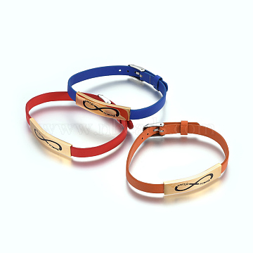 Mixed Color Imitation Leather Watch Band