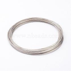 fil à mémoire de collier d'acier 11.5 cm, fil: calibre 18, 1.0 mm, environ 20 cercles / ensemble(X-MW11.5cm-1)