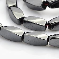 """Скрутить магнитные синтетические гематит бусины пряди, чёрные, 11x5 мм, Отверстие : 1 мм; около 36 шт / нитка, 15.7""""(G-P061-24)"""