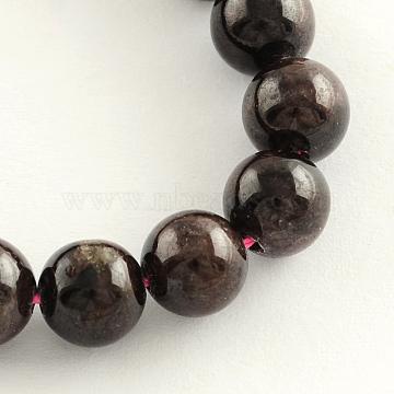 10mm Round Garnet Beads