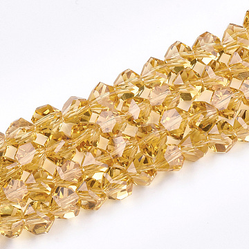 9mm Gold Others Glass Beads