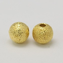Brass Textured Beads, Lead Free, Golden Color, Round, 12mm, hole: 2mm(X-J0JK1013)