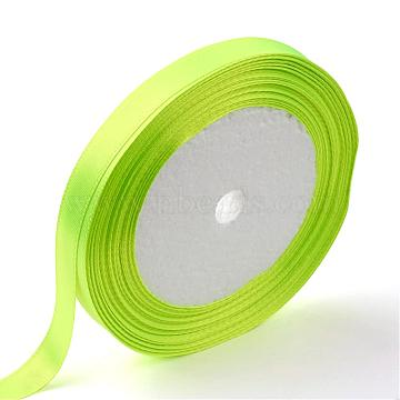 Single Face Satin Ribbon, Polyester Ribbon, Green Yellow, 3/4 inch(20mm), about 25yards/roll(22.86m/roll), 250yards/group(228.6m/group), 10rolls/group(RC20mmY057)
