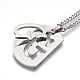304 Stainless Steel Split Initial Pendant Necklaces(NJEW-L152-03G)-2