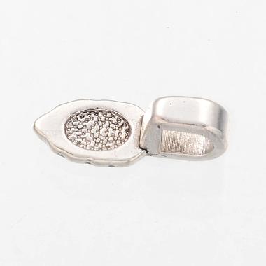 Antique Silver Tone Tibetan Style Spade Pendant Bails(X-AB3357Y)-2