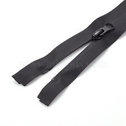 Garment Accessories, Nylon Zipper, Zip-fastener Components, Black, 620x31x2.5mm(X-FIND-WH0043-08A)