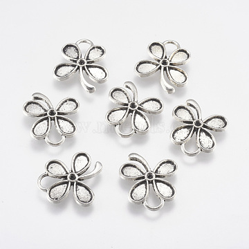 Antique Silver Flower Alloy Pendants