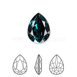 Austrian Crystal Rhinestone, 4320, Crystal Passions, Foil Back,  Faceted Pear Fancy Stone, 205_Emerald, 8x6x3mm(X-4320-8x6mm-205(F))