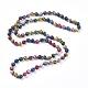 Dyed Natural Sesame Jasper/Kiwi Jasper Beaded Necklaces(NJEW-P249-B01)-2