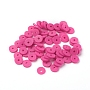 Eco-Friendly Handmade Polymer Clay Beads, Disc/Flat Round, Heishi Beads, Medium Violet Red, 6x1mm, Hole: 2mm, about 23500pcs/1000g