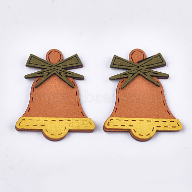 52mm Coral Bell Suede Cabochons