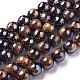 Electroplated Natural Tiger Eye Beads Strands(G-F660-01-8mm)-1